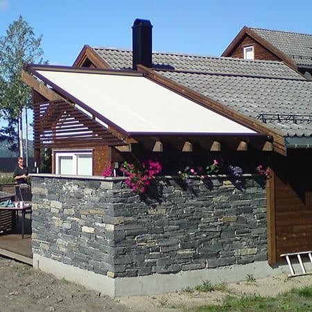 eureka markise på hus